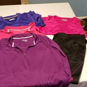 5 piece lot xersion all 1x work out clothes